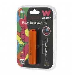 Power Bank Woxter 2600SR PE26-119 Litio 2600mAh Naranja batería externa