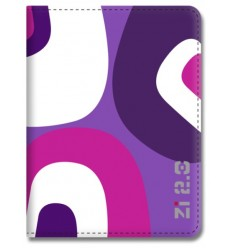 "Ziron ZR163 8"" Folio Púrpura, Violeta, Color blanco funda para tablet"